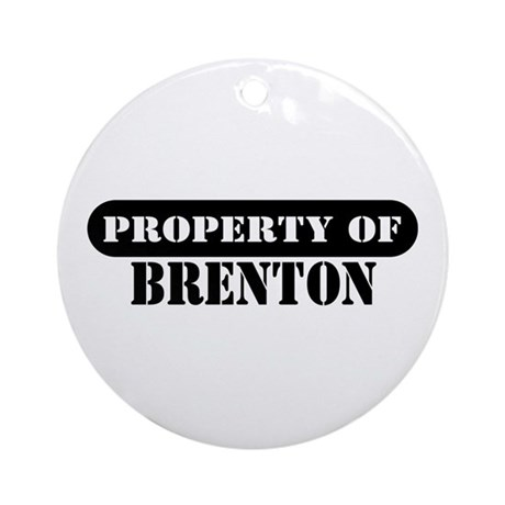 Property of Brenton Ornament (Round)
