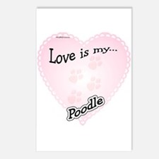 Love is my Poodle Postcards (Package of 8)