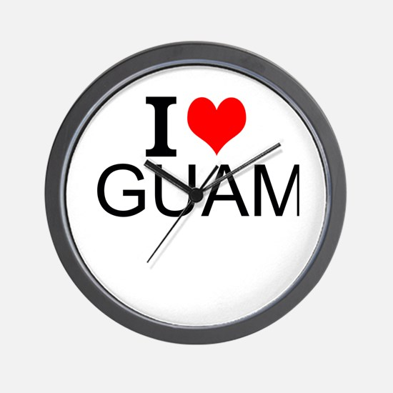 I Love Guam Wall Clock