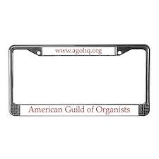 AGO License Plate Frame