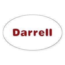 Darrell Santa Fur Oval Decal
