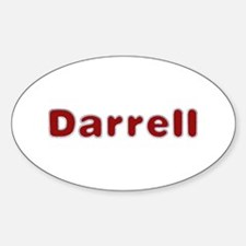 Darrell Santa Fur Oval Decal
