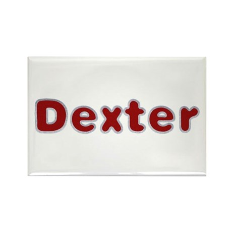 Dexter Santa Fur Rectangle Magnet
