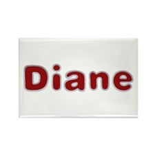 Diane Santa Fur Rectangle Magnet