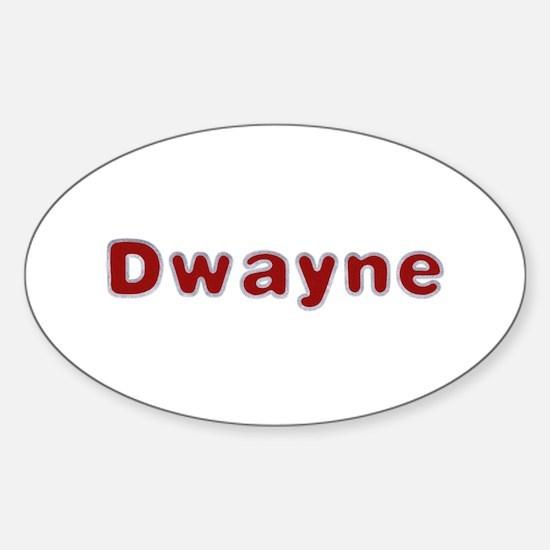 Dwayne Santa Fur Oval Decal