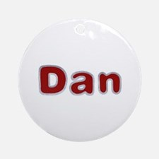 Dan Santa Fur Round Ornament