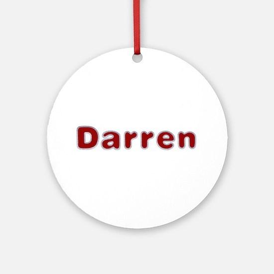 Darren Santa Fur Round Ornament