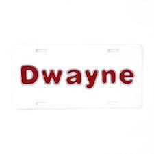 Dwayne Santa Fur Aluminum License Plate