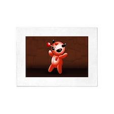 Voodoo Doll Evil Devil Cartoon 5'x7'Area Rug