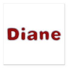 Diane Santa Fur Square Car Magnet