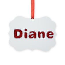 Diane Santa Fur Ornament