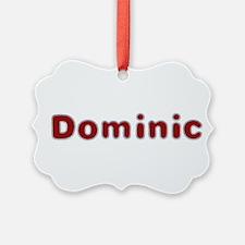 Dominic Santa Fur Ornament