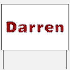 Darren Santa Fur Yard Sign