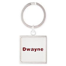 Dwayne Santa Fur Square Keychain