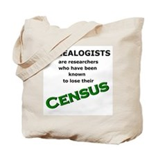 Genealogy Losing Census (Green) Tote Bag
