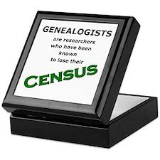 Genealogy Losing Census (Green) Keepsake Box