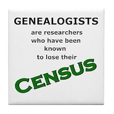Genealogy Losing Census (Green) Tile Coaster