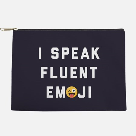 I Speak Fluent Emoji Makeup Bag