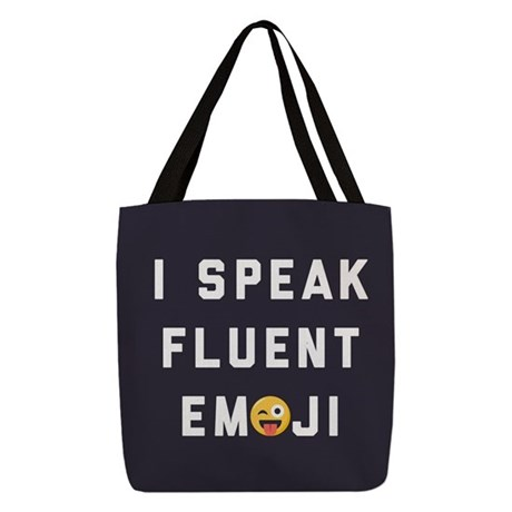I Speak Fluent Emoji Polyester Tote Bag