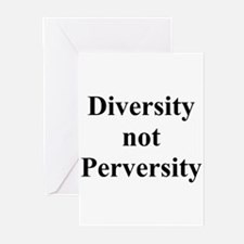 Diversity not Perversity Greeting Cards (Package o