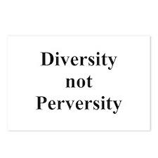 Diversity not Perversity Postcards (Package of 8)