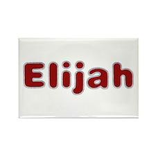 Elijah Santa Fur Rectangle Magnet