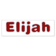 Elijah Santa Fur Bumper Bumper Sticker