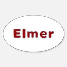 Elmer Santa Fur Oval Decal
