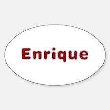 Enrique Santa Fur Oval Bumper Stickers