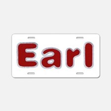 Earl Santa Fur Aluminum License Plate