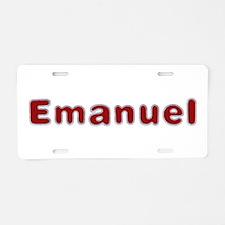 Emanuel Santa Fur Aluminum License Plate