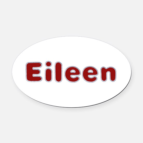 Eileen Santa Fur Oval Car Magnet
