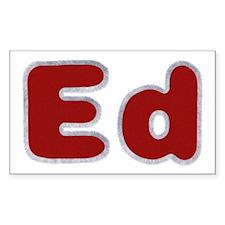 Ed Santa Fur Rectangle Decal
