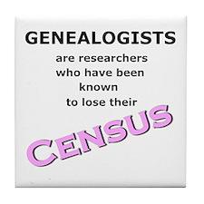 Genealogy Losing Census (Pink) Tile Coaster