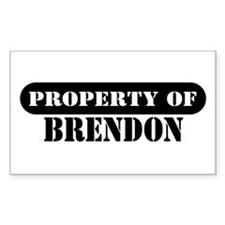 Property of Brendon Rectangle Decal