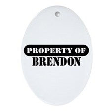 Property of Brendon Oval Ornament