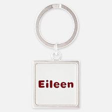 Eileen Santa Fur Square Keychain