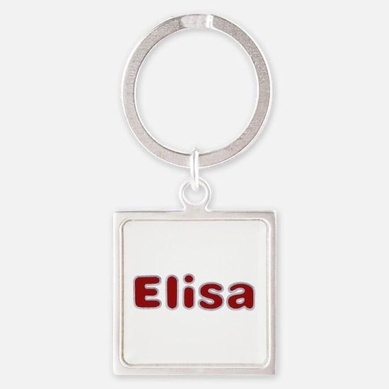Elisa Santa Fur Square Keychain