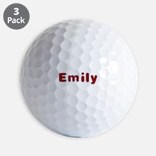 Emily Santa Fur Golf Ball
