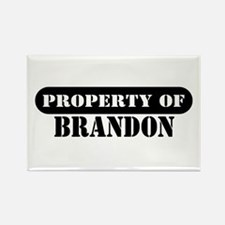 Property of Brandon Rectangle Magnet