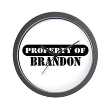 Property of Brandon Wall Clock
