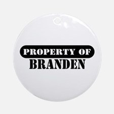 Property of Branden Ornament (Round)