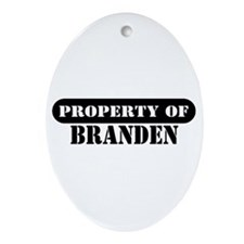 Property of Branden Oval Ornament