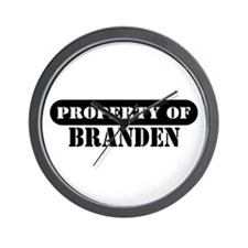 Property of Branden Wall Clock