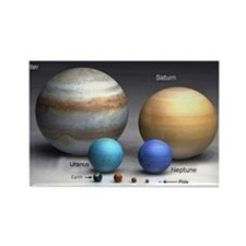 Solar System Planets Rectangle Magnet