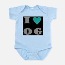 I Love O G Infant Bodysuit