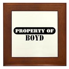 Property of Boyd Framed Tile