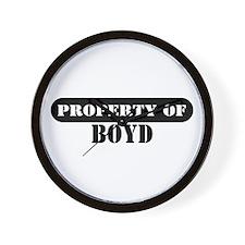 Property of Boyd Wall Clock