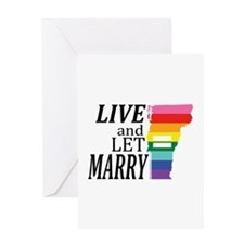 Vermont equality live marry blk font Greeting Card