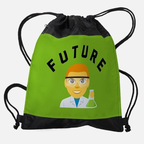 Future Scientist Emoji Drawstring Bag